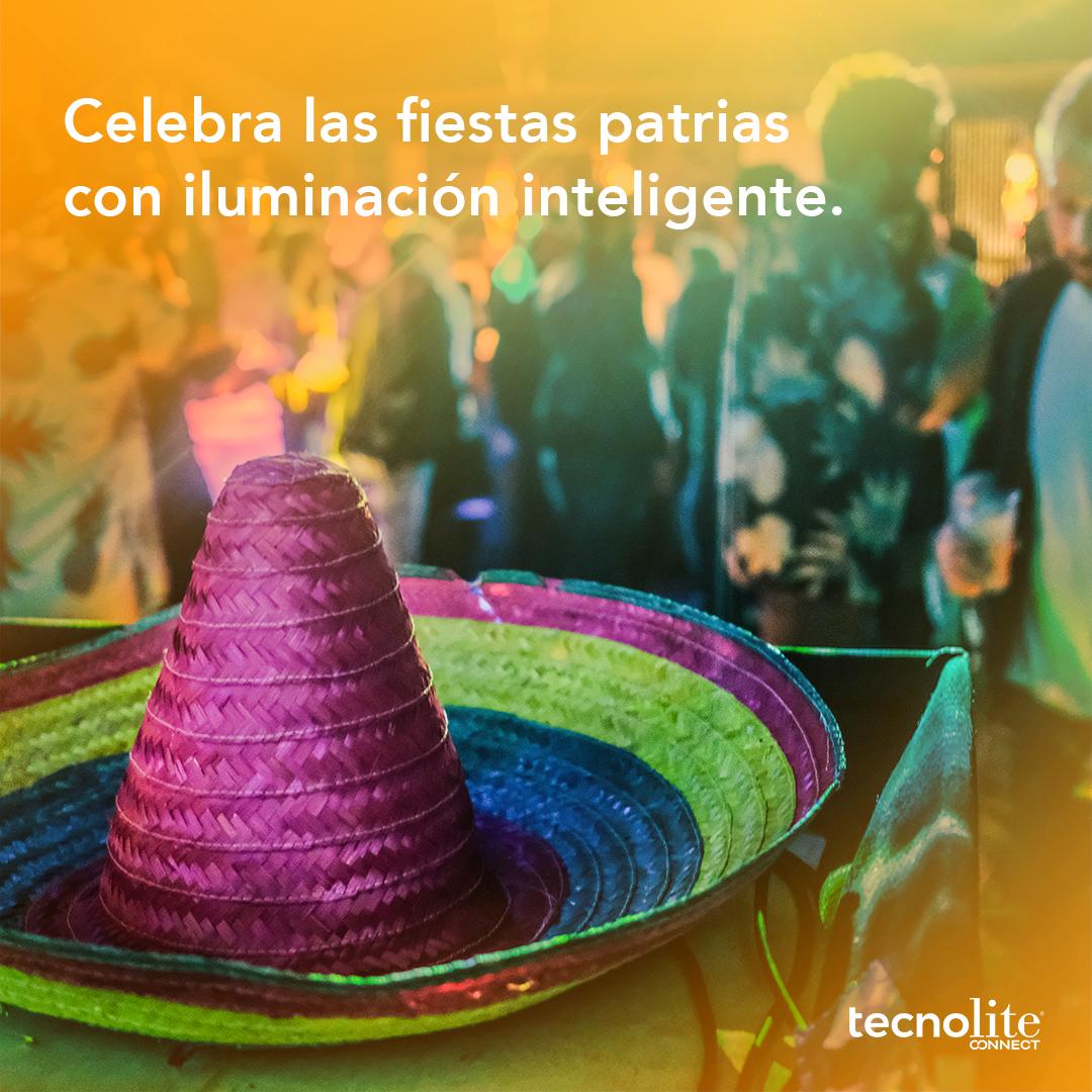 Celebra las fiestas patrias con iluminación inteligente